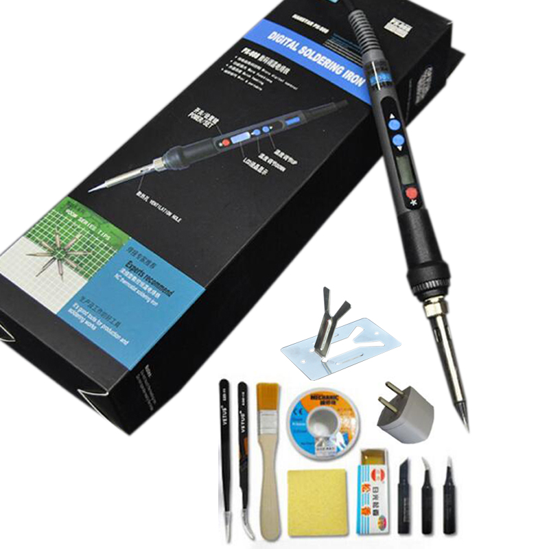220V 90W Digital LCD Soldering Iron Kit Adjustable Temperature Solder Welding Tool With Soldering Tip+Iron Stand+Tin wire 936 soldering station 220v 60 65w electric soldering iron for solder adjustable machine make seals tin wire solder tip