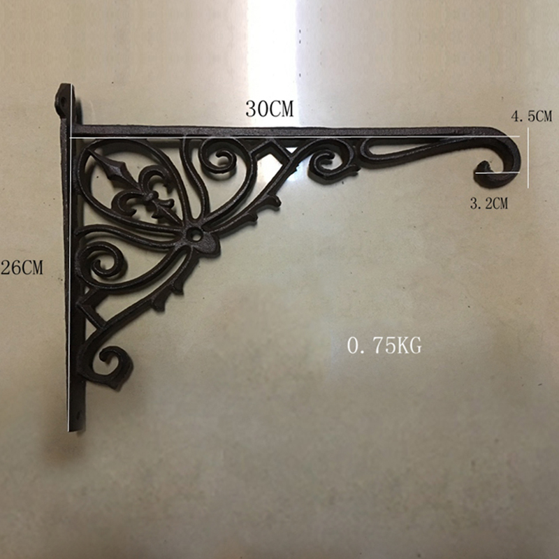 2 HAND RAIL Brackets Cast Iron Stair Railing old bronze color heavy duty vintage