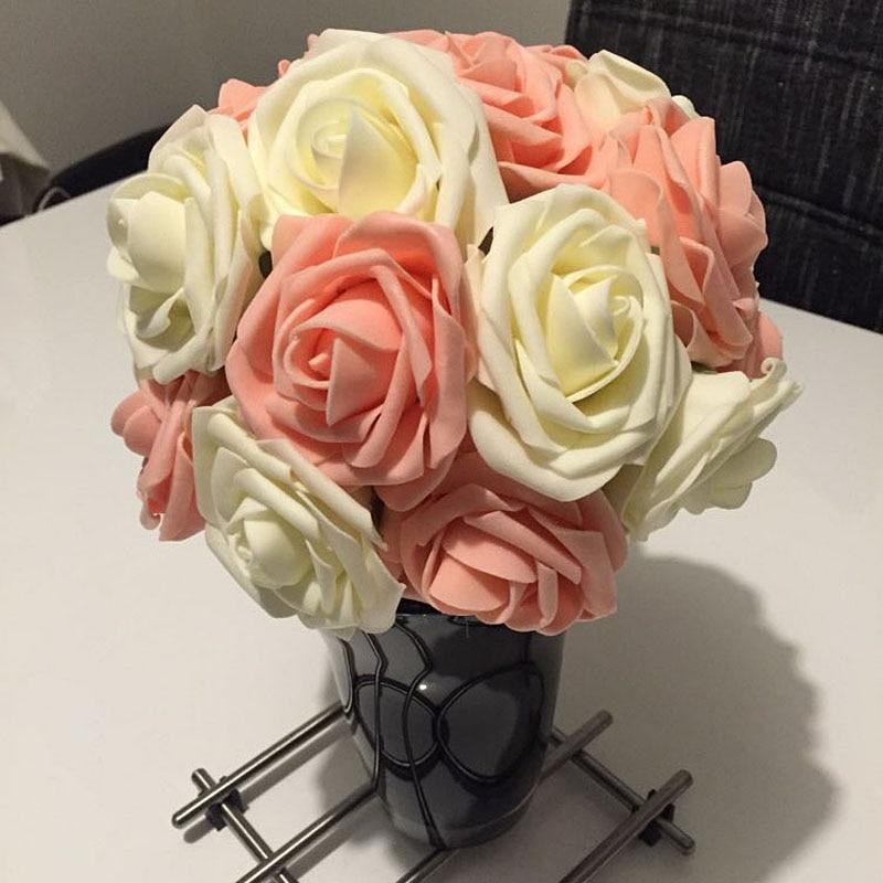2 rooside stiili 18 värvi 8CM 6.5CM 10Pcs Kunstlikku roosi lilled - Pühad ja peod - Foto 3