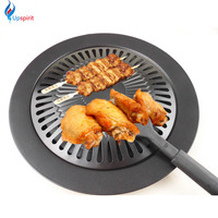 New Cooking Tools Non stick Gas Grill Pan Refined Iron Black Barbecue BBQ Frying Roasting Pans Outdoor Saucepan Panela Sartenes