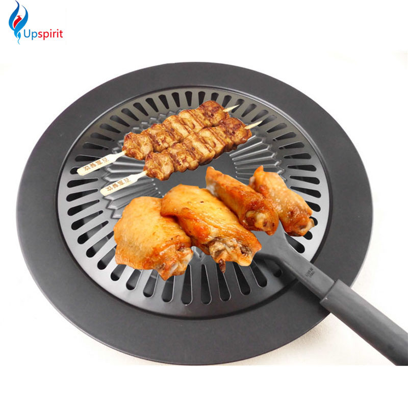 New Cooking Tools Non-stick Gas Grill Pan Refined Iron Black Barbecue BBQ Frying Roasting Pans Outdoor Saucepan Panela Sartenes