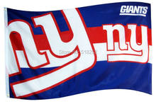 New York Giants two logo Flag 3x5 FT 150X90CM NFL Banner 100D Polyester  Custom flag grommets 6038 15db186c4