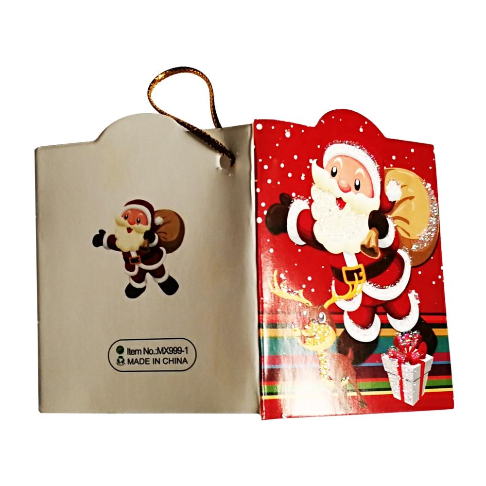 12 teile/los Santa Claus Mini Grußkarten Nachricht Karte Weihnachten ...
