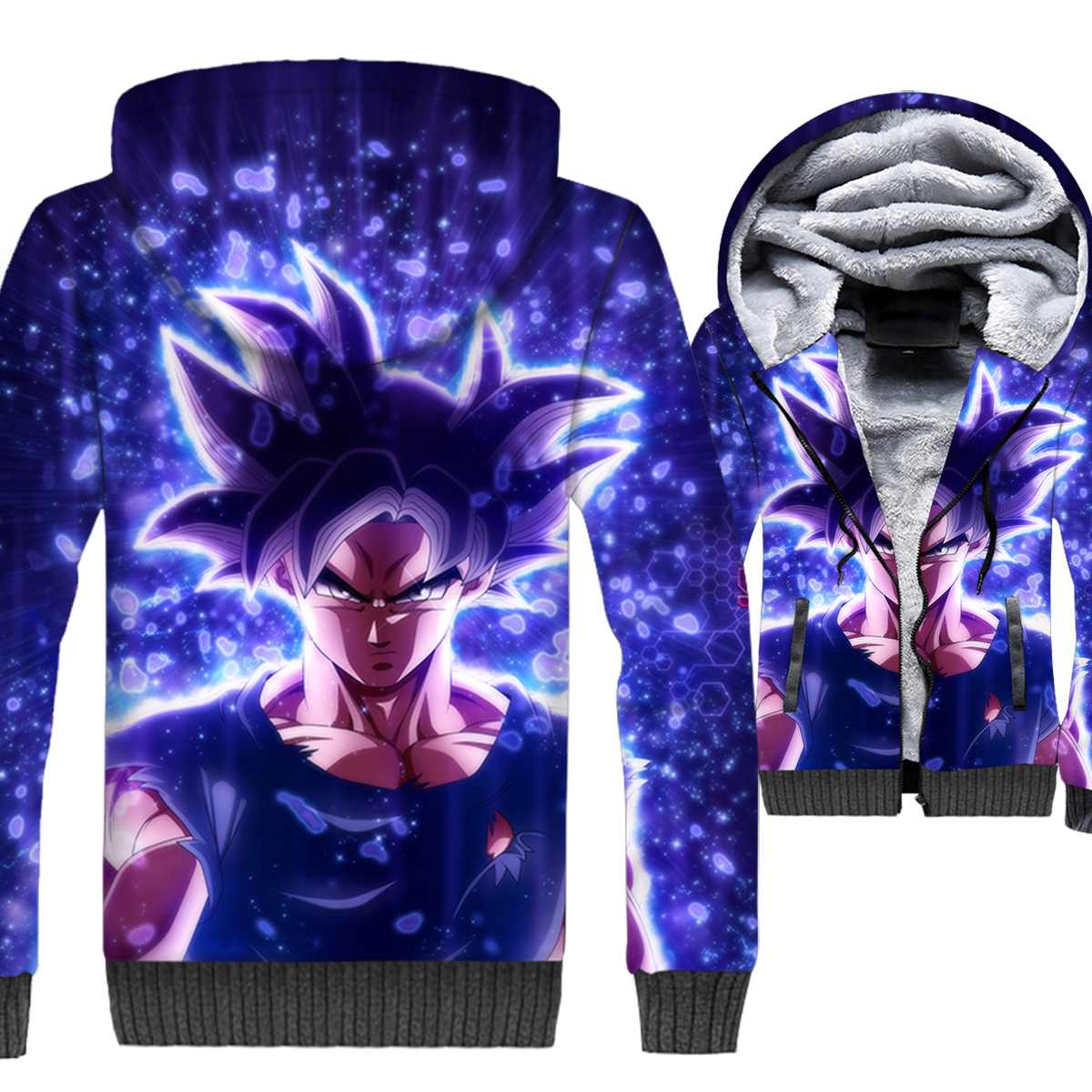Anime Dragon Ball Hoodies Men Super Saiyan Sweatshirts Harajuku Coat Winter Thick Fleece Warm Vegeta 3D Jackets Cool Streetwear
