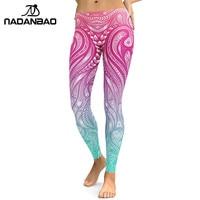 NADANBAO Nuove Ghette di Disegno Donne Mandala Fiore 3D Stampa Digitale Legging Fitness Leggins Pantaloni Elastici Dei Pantaloni