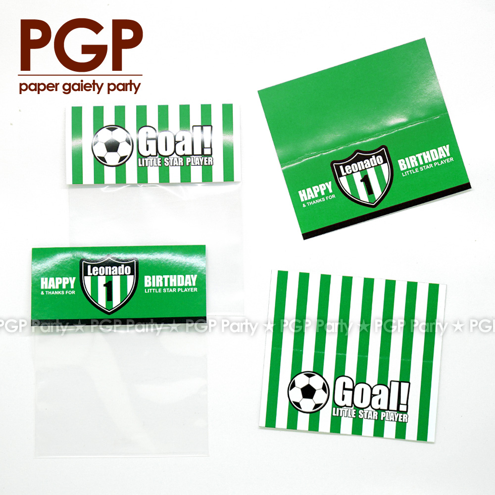 [PGP] Football Party festival Gift Bag LFP World League One boy 1st 6th Birthday UEFA Championship Cup Serie A Bundesliga FIFAs
