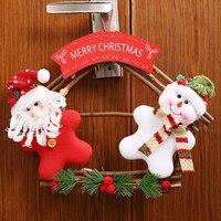 Muñeco de nieve de navidad Que Cuelga de La Puerta placa de la Tela Claus Decoraciones Para El Hogar Navidad Colgando Decoración Del Árbol de Navidad Adornos