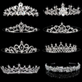 4 Styles Elegant Wedding Bridal Tiara Rhinestone Crystal Crown Pageant Prom Hair Headband