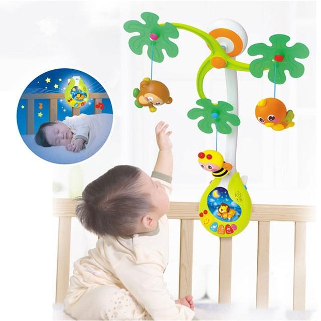 Oyuncak bébé jouets pépinière lit Mobile avec berceuse musicale sons hochet rotatif loisirs sol lit cloche 0-12 mois