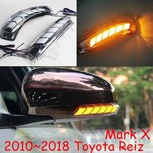 Автомобильный Стайлинг для Toyota eiz зеркальный светильник Mark X 2010~ 2018y, Prius(XW30), светодиодный DRL Дневной светильник 2009~ Wish зеркальный светильник