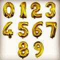 32/40 гигантские золотые и серебряные гелиевые шары в виде цифр, воздушные шары из фольги, украшения для вечеринки в честь Дня Рождения, товары...