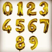 32/40 gigante ouro prata número de hélio balão folha balões ar feliz aniversário decorações festa adulto crianças evento suprimentos