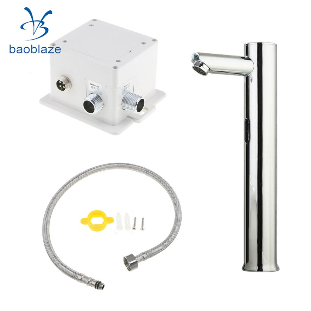 Automatic Infrared Sensor Induction Faucet Modern Basin Sink Touchless Handsfree Tap for Home Hotels Public Buildings