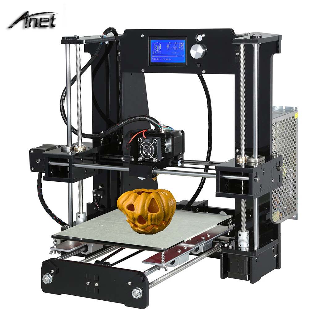 Anet A6 3d-printer DIY Large Printing Size 220*220*250mm Precision Reprap Prusa i3 DIY 3D Printer kit with Filament + SD Card