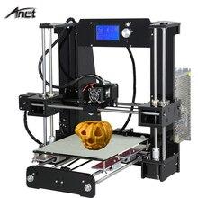 Anet A6 3d-printer DIY Large Printing Size 220*220*250mm Precision Reprap Prusa i3 DIY 3D Printer kit with Filament + SD Card