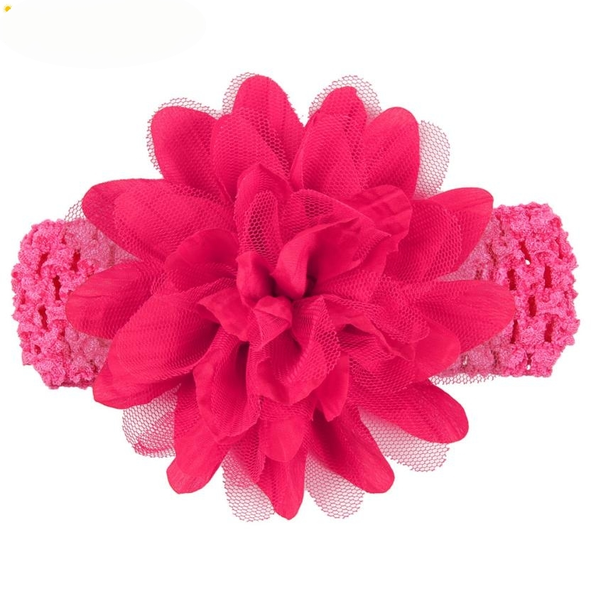 Headbands Newly Design Little Girls Big Flower Elastic Lace Hair Accessories 160405 Drop Shipping girls headbands newly design cute kids flower head wear hair may11 drop shipping sunward