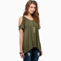 2018 New Style Summer Shirt women's cotton V neck T shirt Female Loose T Shirt