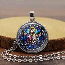Девы Марии время драгоценный камень ожерелье Бог христианские украшения ретро свитер цепи Европейский металлический материал украшения дома