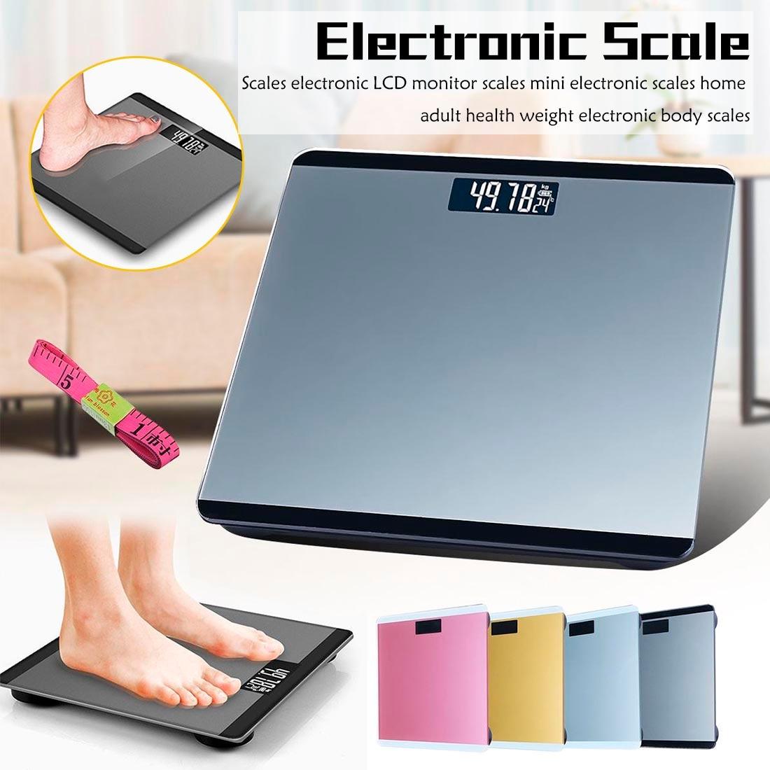 4 couleurs échelles électroniques LCD moniteur échelles mini balances électroniques maison adulte santé poids électronique balances corporelles