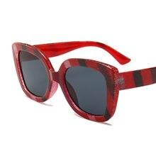 f97f435dfd Emosnia Unisex cuadrado gafas de sol Oversized Big Frame Color del arco iris  rayas mujeres diseñador de marca de lujo hombres 20.