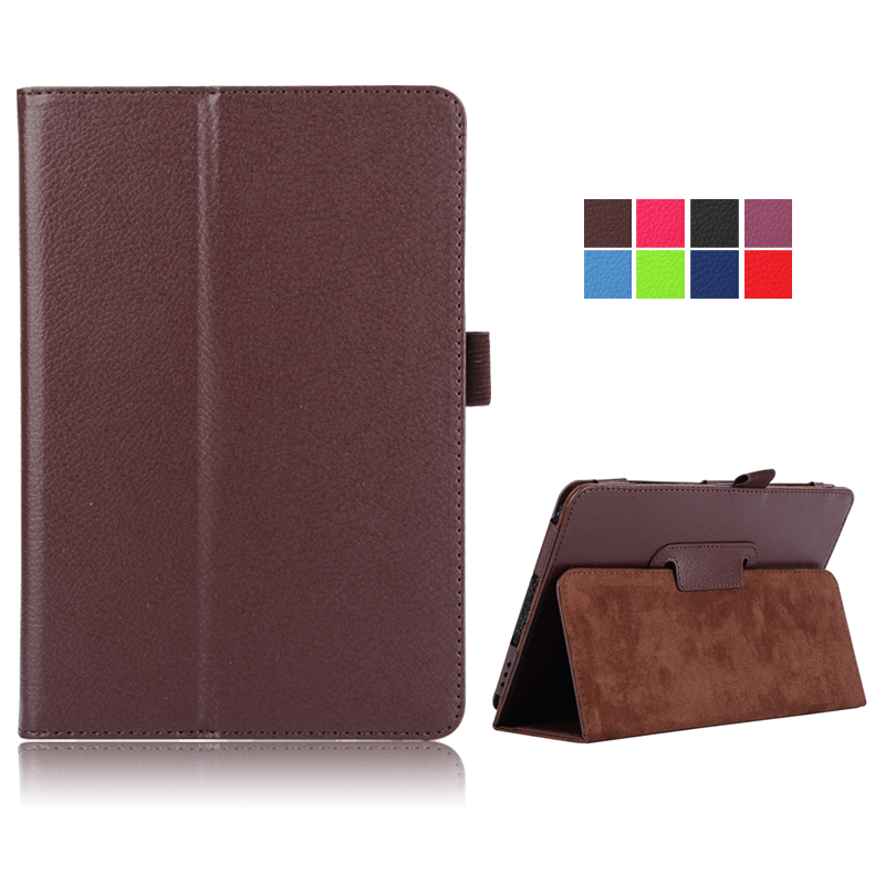 Case For Samsung Galaxy Tab A T350 8.0 Inch, Flip Protective Solid PU Leather Stand Cover For SM-T350 Tablet Accessories