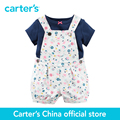 Картера 2 шт. детские дети дети 2-х Частей Tee & Shortalls Набор 121G878, продавец картера Китай официальный магазин