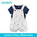 Carter 2 unids Tee & Shortalls bebé niños kids 2-Piece Set 121G878, vendido por carter oficial China tienda