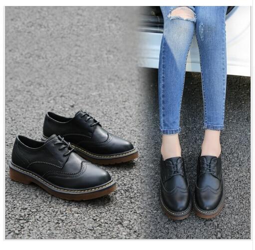 2017 весенние женские туфли из искусственной кожи, дизайнерские винтажные туфли на плоской подошве, белые женские туфли-оксфорды с круглым но...