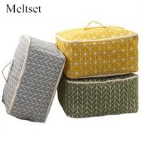 Linen Cotton Quilt Storage Bag Wardrobe Closet Organizer For Clothes Suit Toys Sundries Large Capacity Dustproof