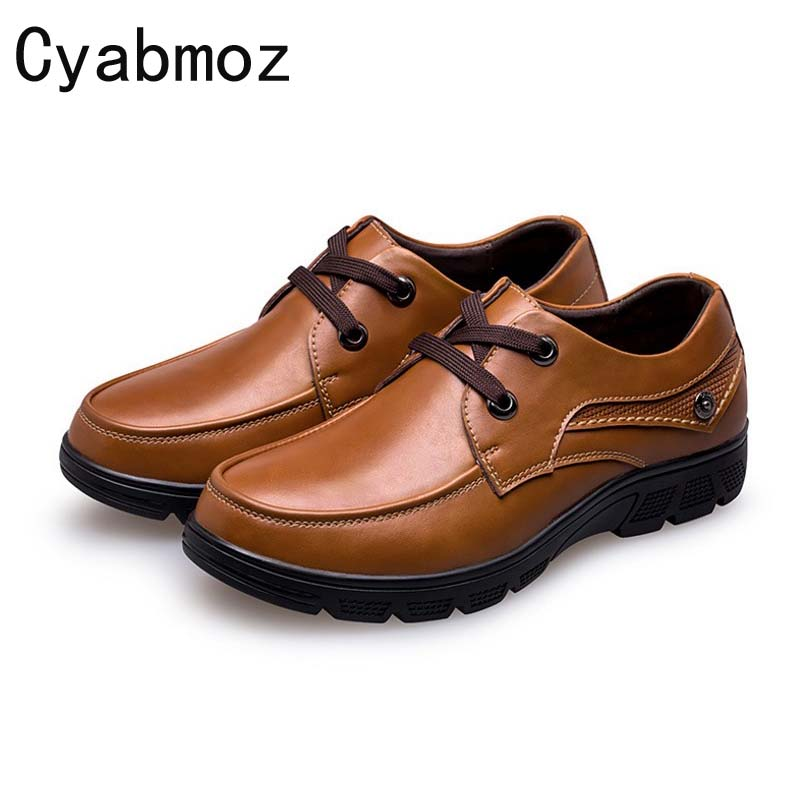 Cyabmoz Brand Flats Shoes Men Oxfords British Fashion Split Leather Comfortable Business For Men Shoes Plus Size 46 47 48 49 50 cyabmoz 2017 flats new arrival brand casual shoes men genuine leather loafers shoes comfortable handmade moccasins shoes oxfords
