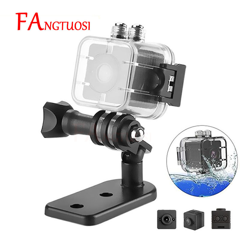 FANGTUOSI HD Étanche Mini Caméra SQ12 1080 P Infrarouge Nuit Vidéo Enregistreur Sport Numérique Support de Caméra TF Carte Caméscope DVR