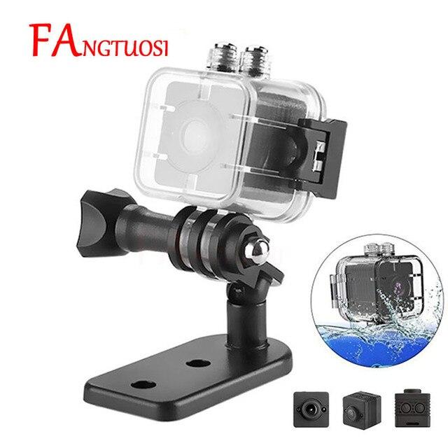 SQ12 FANGTUOSI HD Mini Câmera À Prova D' Água 1080 P Noturna Infravermelha Esporte Gravador De Vídeo Digital Cartão TF Suporte para Câmera Filmadora DVR