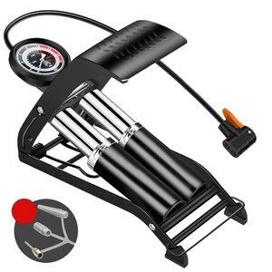 Image 1 - גבוהה לחץ רגל דוושת אוויר משאבת צילינדר כפול יחיד Inflator MTB כביש אופני אופניים רכב מתנפח לxiaomi M365 קטנוע