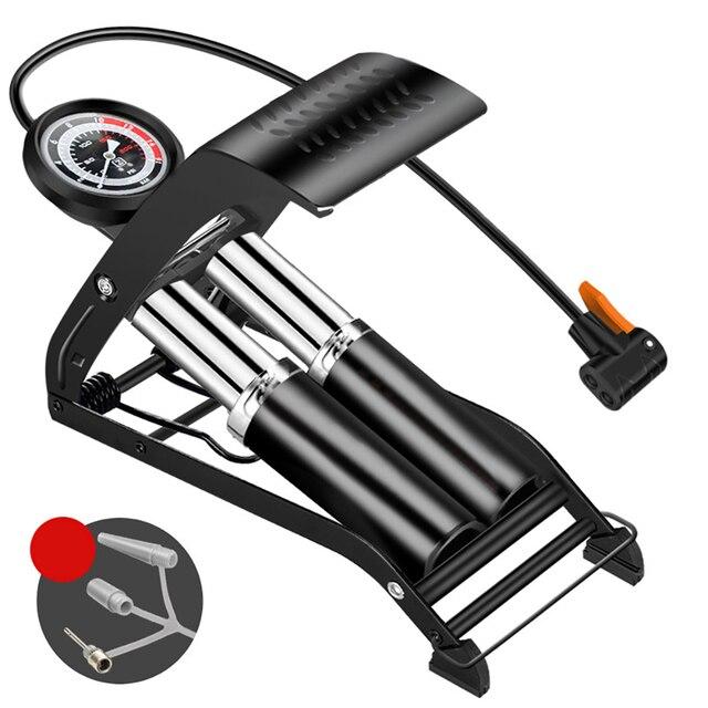 Pédale haute pression, pompe à Air pour vtt, vélo de route, voiture, gonfleur simple Double cylindre, pour Scooter Xiaomi M365