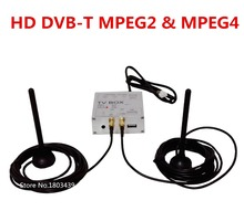 Car Digital TV Receiver Box HD DVB-T MPEG4&MPEG2+Dual Antenna For Car DVD Player Radio Stereo GPS Navigation