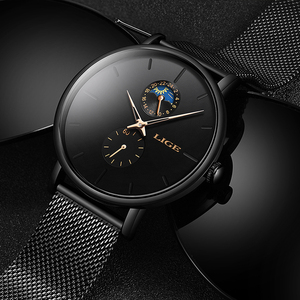 Image 3 - 2020 LIGE Mens Watches Top Brand Luxury Quartz Men Watch Mesh Belt Luxury Waterproof Sport Watch Men Male Clock Man Wristwatch