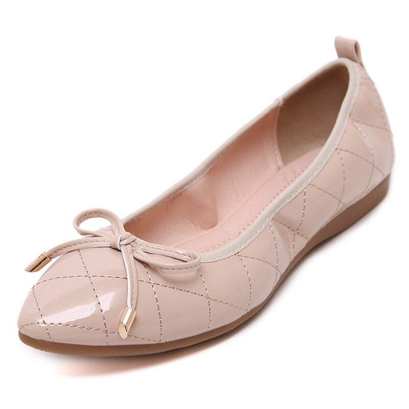 Semelle Ummewalo Pointu Chaussures Bout Décontracté Plates Décontractées En Dames Femmes Designer Doux Arc De Patène Cuir Ballet Caoutchouc 8zqxrwZzI
