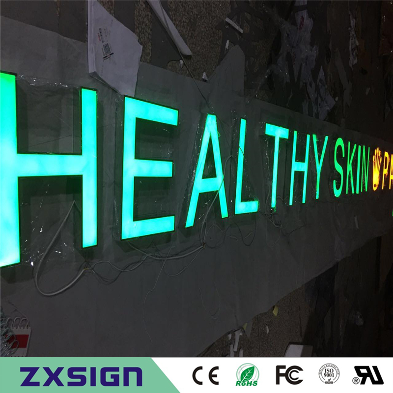 Factory Outlet Outdoor Acrylic Front Illuminated Led Channel Letterings, Custom Salon Club Hotel Name Big Led Signs