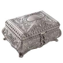 Ретро Европейская цинковая шкатулка для ювелирных изделий, нетвердая деревянная фланелевая коробка для хранения, Металлическая резьба, коробка для хранения принцессы, подарок для девочек