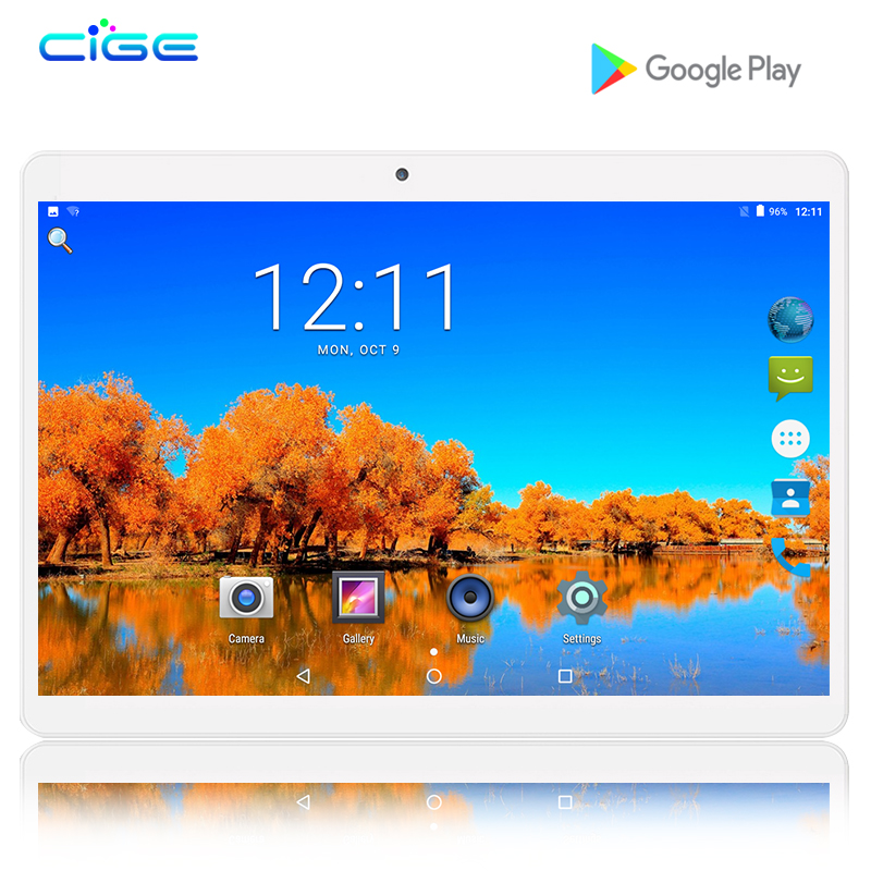 CIGE New 10 inch Tablet PC Octa Core 4GB RAM 32GB ROM Dual SIM Cards Android 6.0 Wifi 3G 4G FDD LTE Tablet PC 10 10.1 +Gifts cige a6510 10 1 inch android 6 0 tablet pc octa core 4gb ram 32gb 64gb rom gps 1280 800 ips 3g tablets 10 phone call dual sim