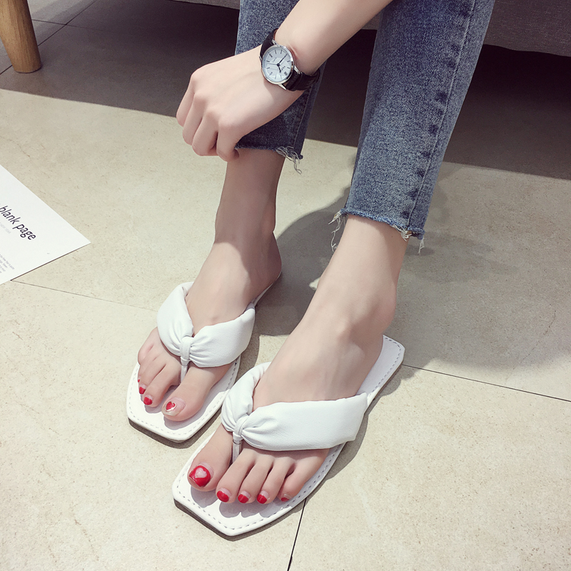 EOEODOIT Flip Flops Summer Shoes Women Flat Heel Leather Slippers Lady Beach Shoes New Sand Shoes Sandals