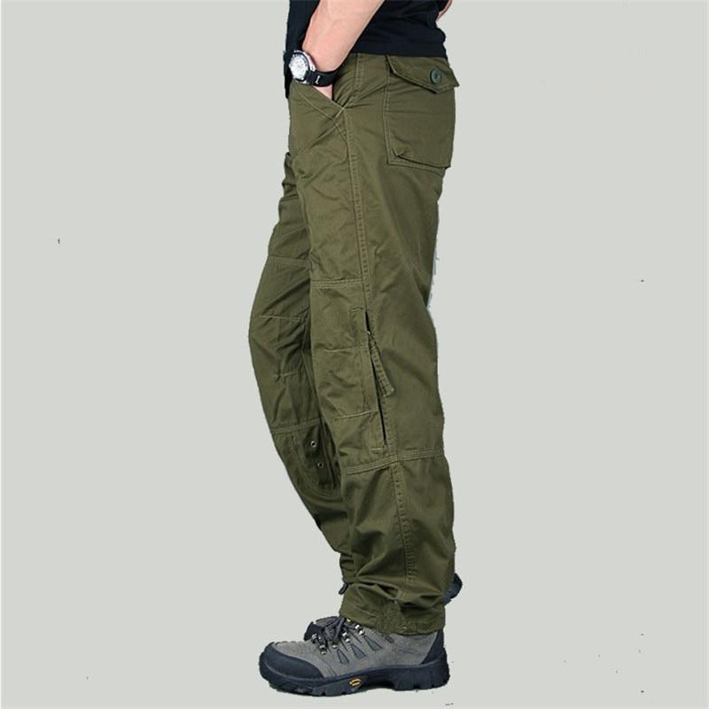 Tamaño 30-40 Nueva primavera Carga táctica fuera de los pantalones militares Hombres del ejército de combate Pantalones militares Pantalones de algodón Ropa de trabajo pantalones