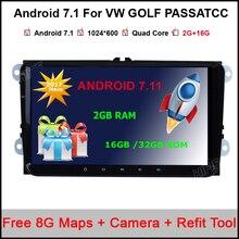 1024*600 android 7.1 araba dvd gps navigasyon skoda VW volkswagen beetle bora caddy CC EOS jetta polo tavşan sharan amarok gps