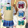Free Shipping New Girls School Uniforms Short Sleeved Shirt Vest Sweater Anime Game Love Live Cosplay