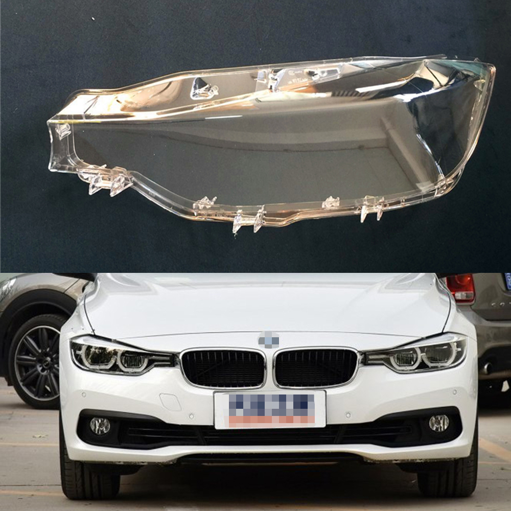 For BMW F30 F35 3 Series 2016 2017 2018 Transparent Car Headlight Headlamp Clear Lens Auto