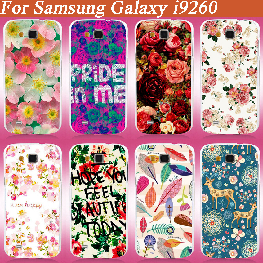 new arrival 15 Patterns painting beautiful flowers Hard PC Case Cover For Samsung Galaxy Premier I9260 I9268 free shipping