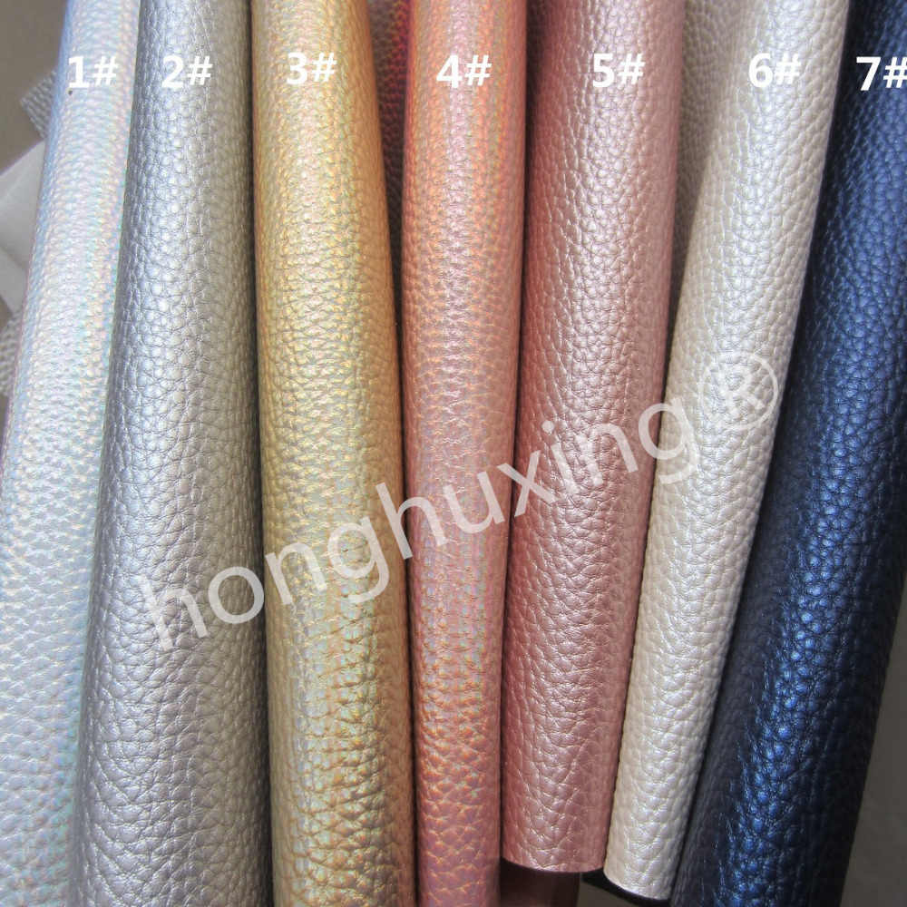 "A4 sheet 8""X11"" Litchi Leatherette synthetic faux pu leather fabric for bows bags sewing craft DIY 1pieces F0402"