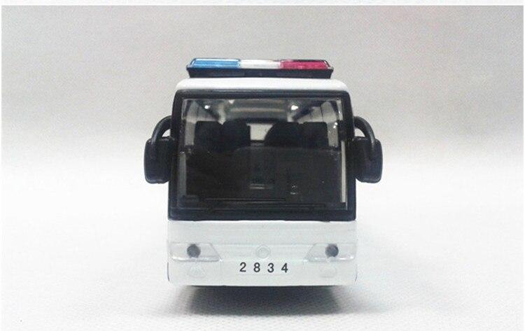 Alloy ljus stor polisbuss dörren leksak bil modell voiture juguete - Bilar och fordon - Foto 3