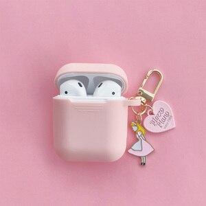 Image 3 - סופר חמוד בנות מפתח טבעת עבור אפל Airpods מקרה אלחוטי Bluetooth אוזניות מקרה סיליקון אוזניות מגן כיסוי אנטי אבוד