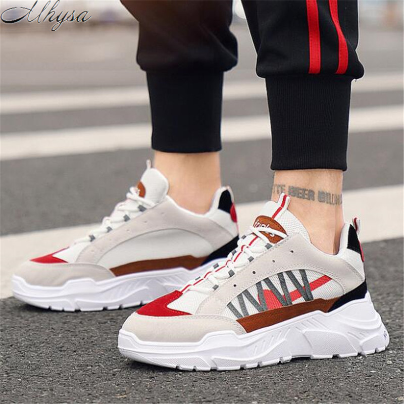 Mhysa 2019 New Spring Autumn Fashion Men's Casual Shoes Outdoor Comfortable Soft Bottom Lightweight Breathable Sneakers L149